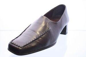 Theresia-M-Schuhe-schwarz-Leder-Slipper-Schuhweite-H-Gr-40-5-UK-7