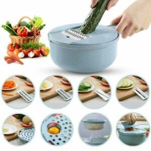 9 IN 1 Multi-function EASY FOOD CHOPPER Mandoline Vegetable Cutter ...