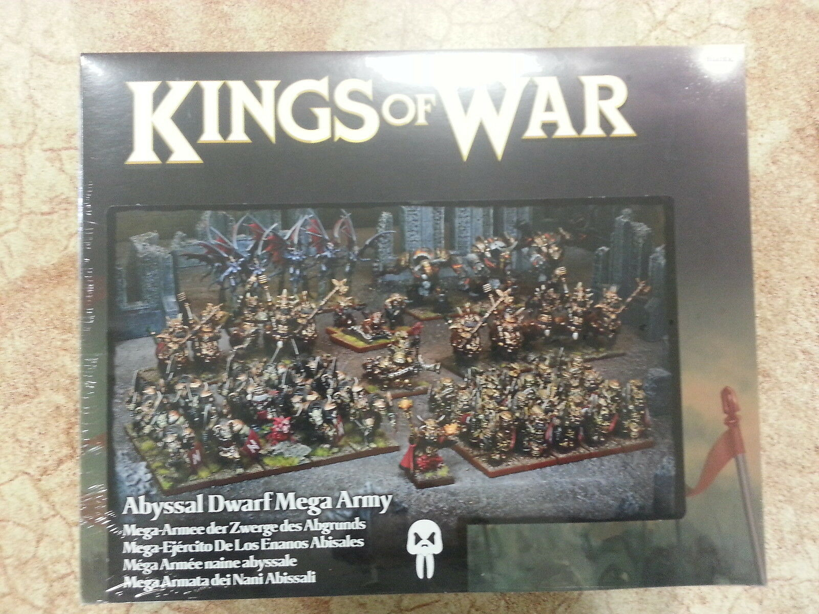 KINGS OF WAR ABYSSAL DWARF MEGA ARMY - 68 MINIATURES - NEW AND SEALED