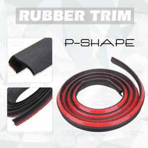 4M-13FT-P-Shape-Car-Rubber-Edge-Trim-Door-Trunk-Strip-Noise-Protector-Moulding