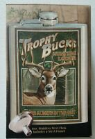 American Vintage Sign Trophy Buck Flask Whitetail Deer Brand