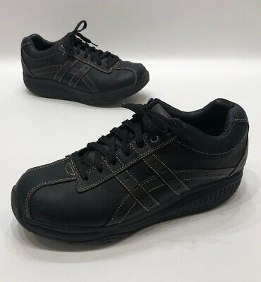 skechers black/brown leather mens casual dress shoes size
