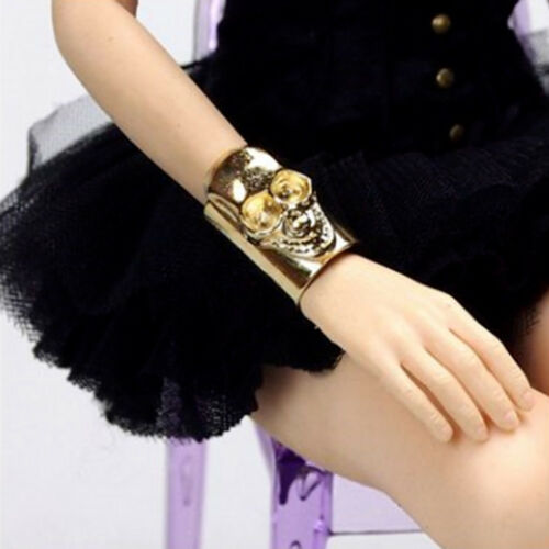 "1//6 Scale Unisex Bracelet Wristband Bangle Locomotive Punk Skull For 12/"" Figure"