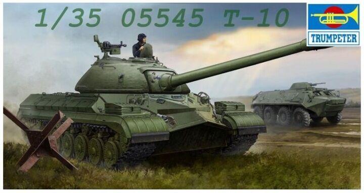 Trumpeter 1 35 Soviet T-10 Heavy Tank Plastic Model Kit