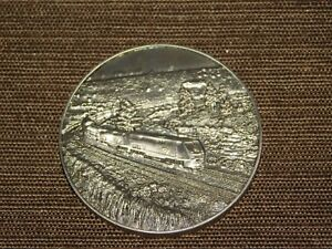 "VINTAGE 1 3/4""  AMTRAK TRAIN METAL COMMITTED TO OPERATIONAL SAFETY FOCUS MEDAL"