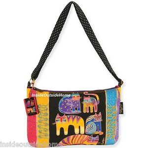 183a40e3aa8 Image is loading Laurel-Burch-Medium-Crossbody-Bag-Fantastic-Feline-Totem-