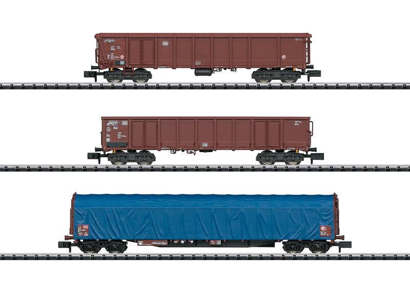 Minitrix N 15869 Güterwagen-Set    Moderne Deutsche Bundesbahn  Neuware  | Züchtungen Eingeführt Werden Eine Nach Der Anderen  45b49b