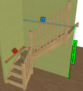 Image Is Loading Oak Staircase Gt 3 Kite Winder Stair Posts