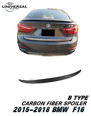 Carbon Fiber Rear Trunk Spoiler Lip Wing for 2015-2018 BMW X6 F16 Type B
