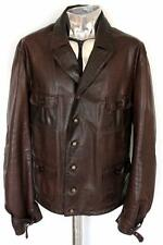 Men's GianFranco Ferre Brown Leather Jacket EU52 XL RRP £785 coat