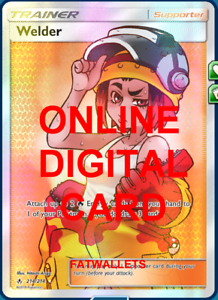1X Welder 214//214 Unbroken Bonds Pokemon Online Digital Card