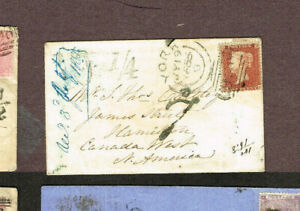 CANADA-FROM-GB-VICTORIA-ERA-JAMES-STREET-HAMILTON-POSTAGE-DUE-1855-MOV27