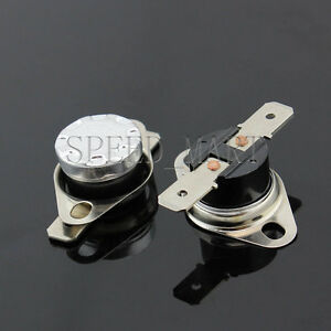 2 pcs Temperature Switch Control Sensor Thermal Thermostat 65°C N.O. KSD301