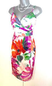 splendida Abito floreale taglia seta 8 in sera con stampa a da wwqf7axp8