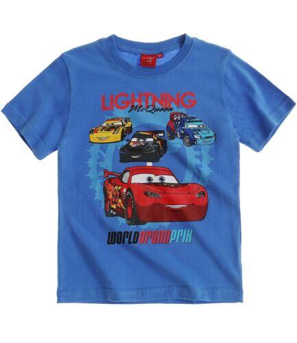 Boys Kids Children Disney Cars Short Sleeve Tee Tshirt Top T-shirt Age 2-8 years