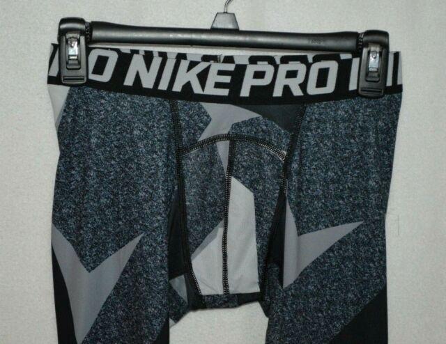 M//L//XL 850429-010 Nike Pro Cool Boy/'s Black//Multi 3//4 Printed Training Tights