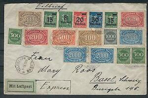 Deutsches reich se magnifique Lupo lettre comme coursier 7.9.23 à partir de Munich-afficher le titre d`origine vn3Xluvq-07145723-350319739