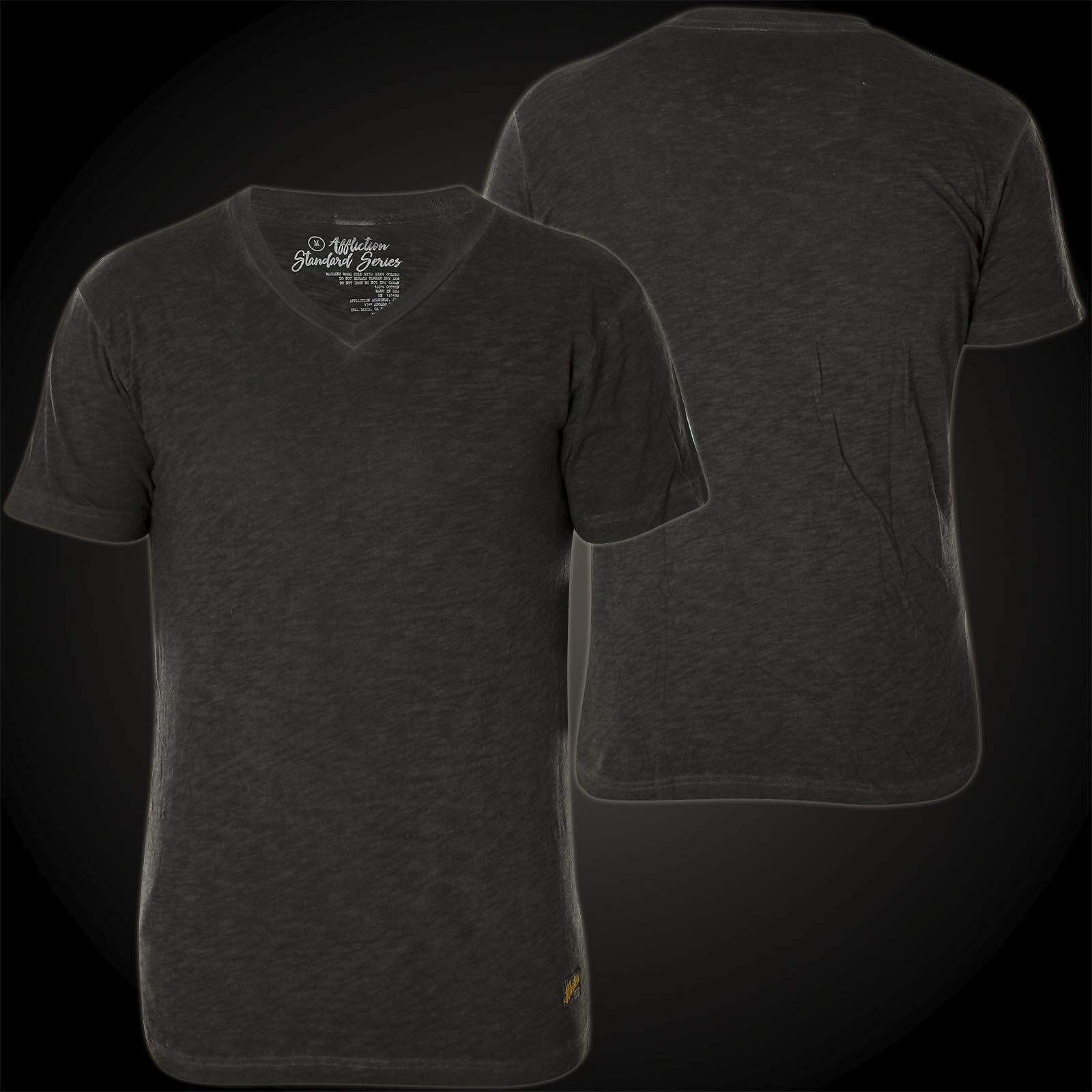 AFFLICTION T-Shirt Standard Supply Dunkelgrau T-Shirts