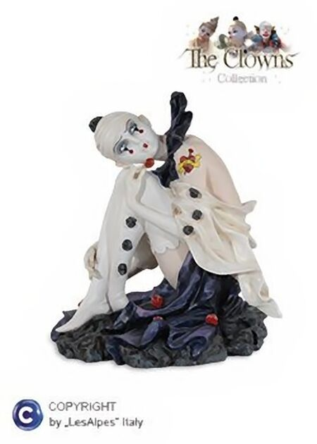 Clown LES ALPES - clown WITH COCCINELLE h.22,50cm - 001 12008 clown