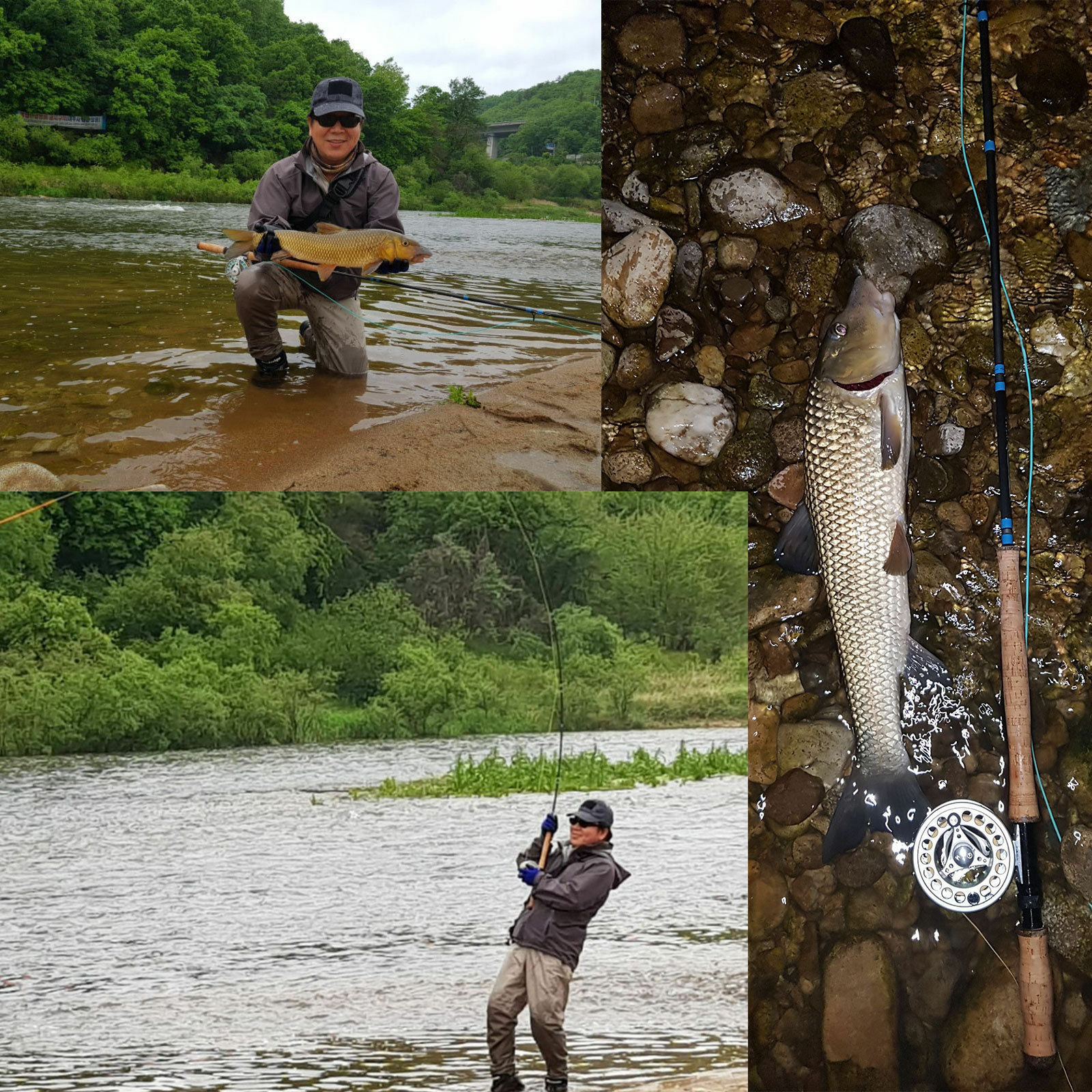 Medium fast Two-handed fly fishing rod spey and and and switch fly rod with cordura tube 33bec5