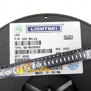100PCS SMD SMT LED 335 White Colour Super bright LED lamp Bulb HIGH QUALITY