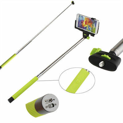 Bluetooth Extendable Selfie Handheld Stick Monopod Holder For iPhone Samsung HTC