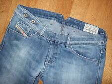 DIESEL CHERICK 8NL Wash Light Distress Womens Slim Tapered Blue Jeans W 27 L 32