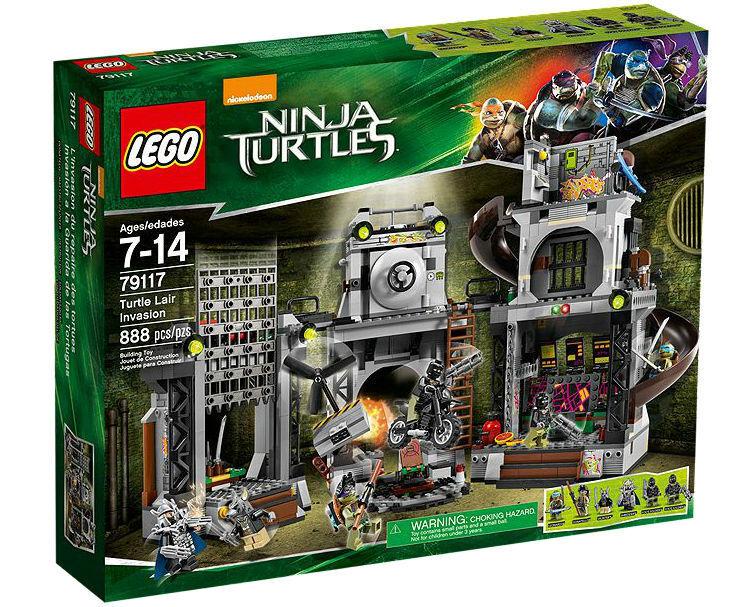 LEGO Teenage Mutant Mutant Mutant Ninja Turtles Angriff auf das Turtle-Versteck (79117) L 445087