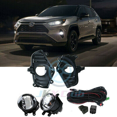 Fog Lights for 16-18 Toyota RAV4 Replace Lamp Ring Wiring Kit Switch Left Right
