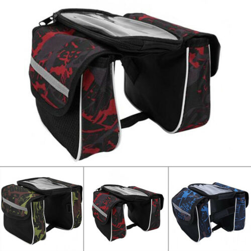 Large Bicycle Bag Road Bike Double Side Panniers Rear Rack Tail Seat Trunk Bag