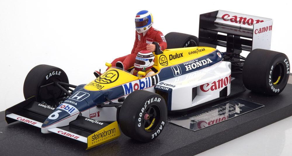 1 18 Minichamps Williams fw11 Rosberg Riding on Piquet Germany 1986