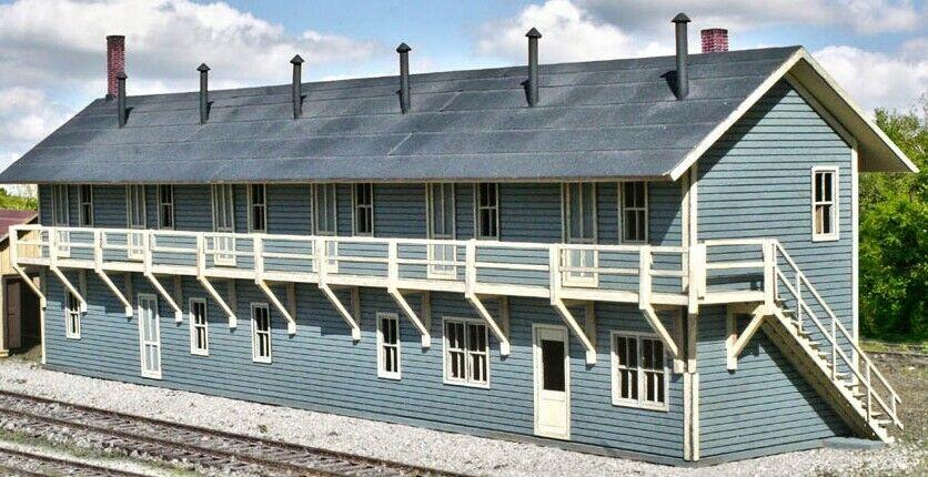 AMERICAN MODEL BUILDERS 713 HO Railroad Rooming House Building Kit FREE SHIP