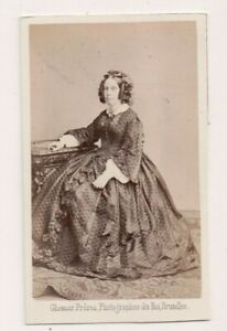 Vintage-CDV-Baroness-de-Ghens-Belgian-Noble-Ghemar-Freres-Photo