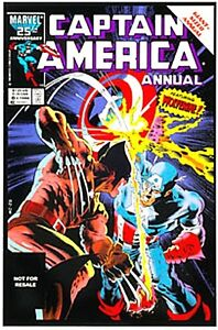 CAPTAIN AMERICA ANNUAL 8 WOLVERINE RARE GIVEAWAY PROMO 2ND PRINT VARIANT LEGENDS