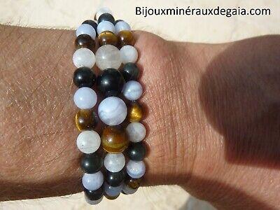 """6 mm Naturel Africain Oeil De Tigre Pierres Précieuses Perles Collier 26/"""""""