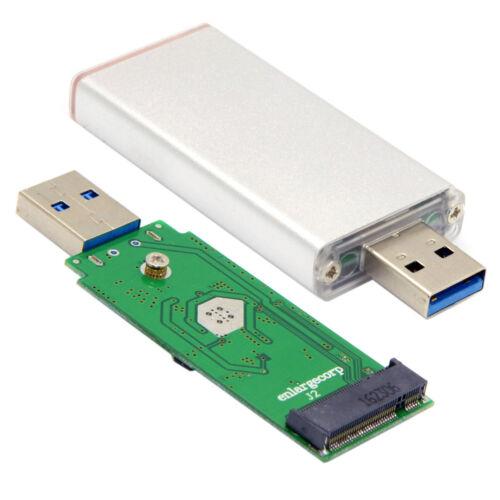 NGFF M.2 B//M-key SATA SSD to USB 3.0 External PCBA Conveter Adapter Silver Case