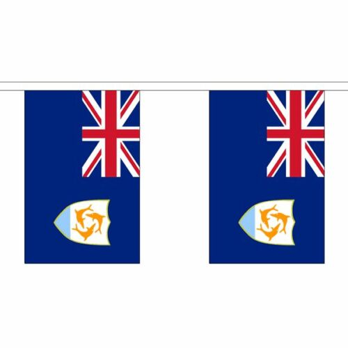 Anguilla Flag Bunting Polyester 3m 6m 9m Metre Length 10 20 30 Flags
