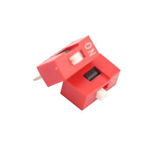 20PCS-Red-2-54mm-Pitch-1-Bit-1-Positions-Ways-Slide-Type-DIP-Switch