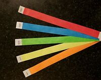 2000 Tyvek Assorted Color Wristbands 3/4 5 Colors Asst