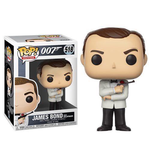 "007 James Bond Goldfinger Sean Connery 3.75/"" POP MOVIES Vinyl Figure FUNKO 518"
