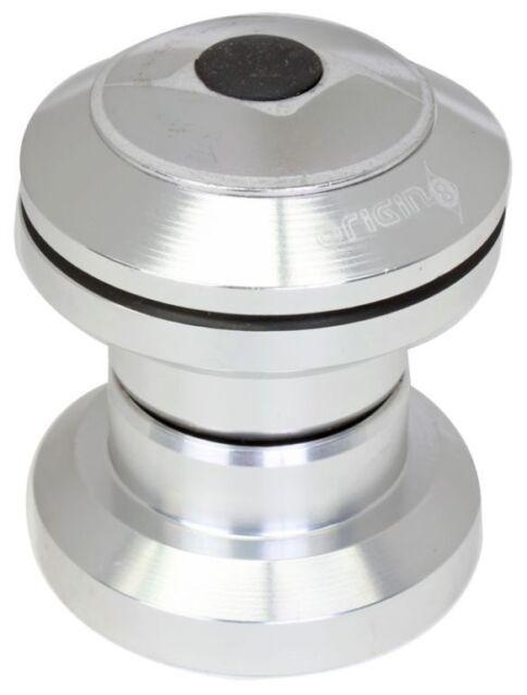 Bicycle Headset Origin8 Threadless Pro Cartridge Bearing 1 Inch Silver