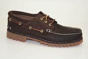 Timberland-Classic-3-Eye-Lug-Boat-Shoes-Herren-Schnuerschuhe-Mokassins-A15XX
