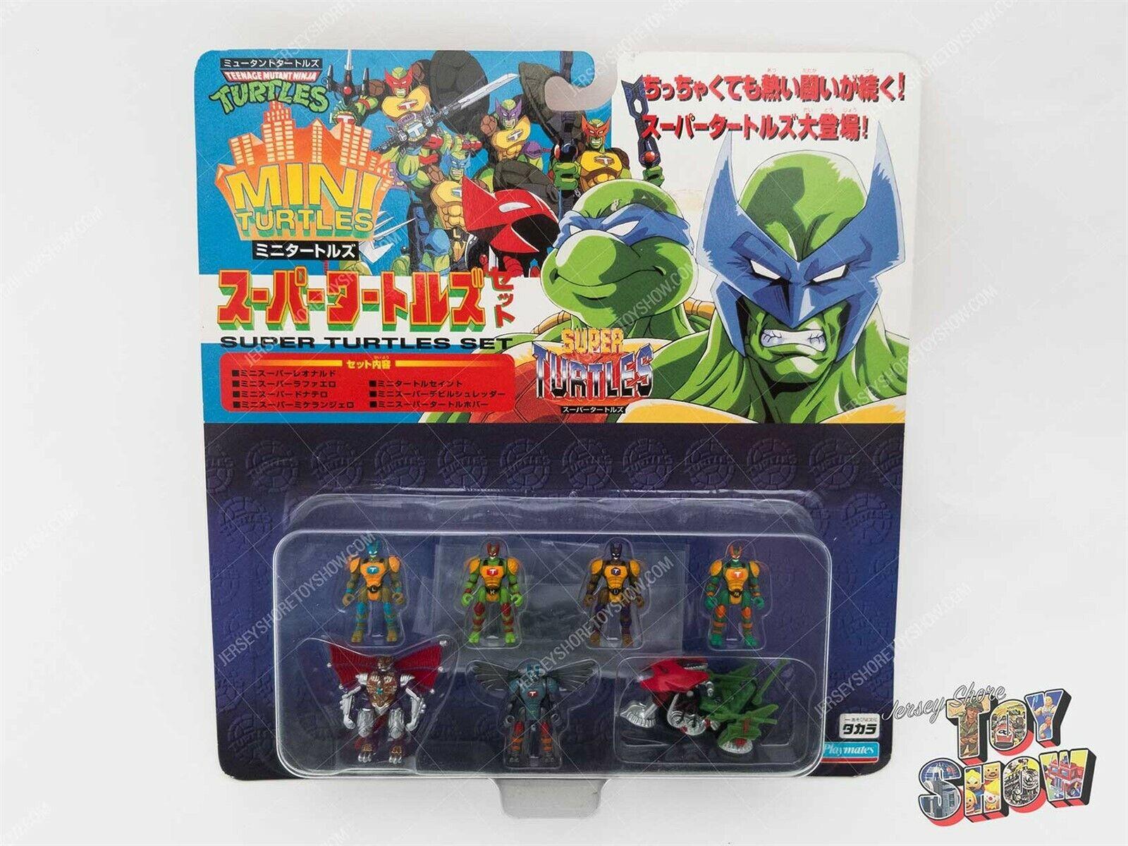 Japanese Takara Teenage Mutant Ninja Turtles Mini Turtles Super Set MOC RARE