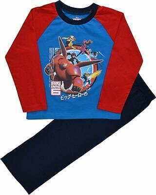 Garçon Officiel Disney Big Hero 6 Rouge Et Noir Pyjama Âge 3-4 à 9-10 ans