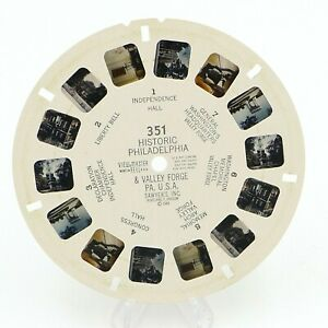 View-Master Reel # 351 Historic Philadelphia & Valley Forge PA USA viewmaster
