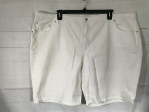 4ef055c2f65 NWT Jaclyn Smith Women s Plus White Summer Shorts Size 26W