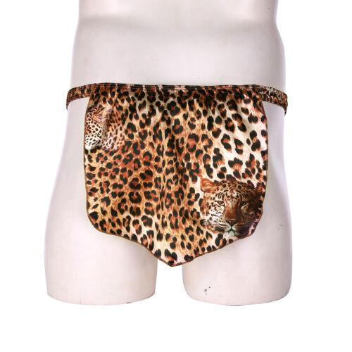 Men/'s Leopard Print Loincloth Animal Thong Male Jungle G-string Briefs