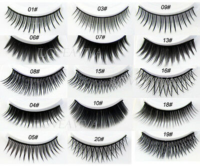 New 5 Pairs Pro Fashion Long Black False Eyelashes Beautiful Makeup Eye Lashes