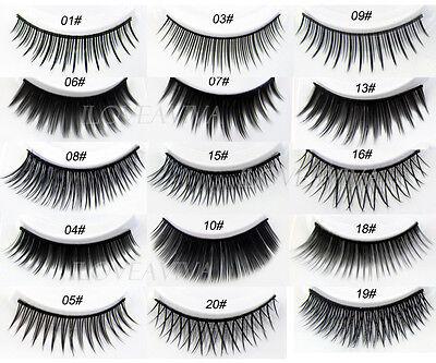 New 5 Pairs Pro Fashion Long Black False Eyelashes Beautiful Makeup Eye Lashes