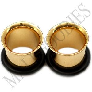 0855-Gold-Single-Flare-Flesh-Tunnels-Earlets-Big-Gauges-7-16-034-Plugs-11mm-PAIR